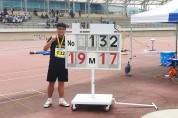 박시훈 선수, 추계전국초등학교 육상대회 한국 신기록 수립