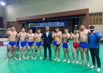 구미시청씨름팀 '제50회 회장기 전국장사씨름대회' 2체급 석권!
